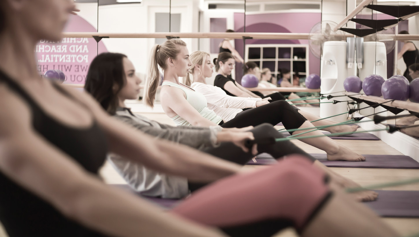 KX Barre group class photography