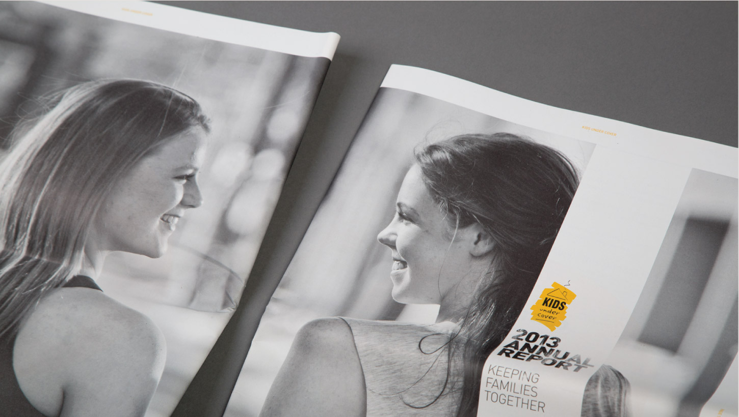Kids Under Cover brochures with two women